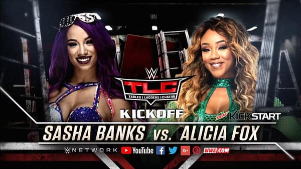 Sasha Banks vs Alicia Fox, WWE Raw