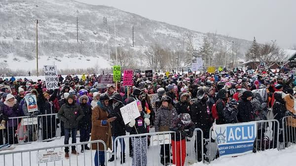 Respect Rally at Sundance Film Festival, City Park in Park City, Utah, 2018