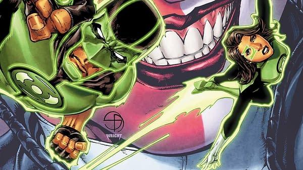 Green Lanterns #38 cover by: Shane Davis and Jason Wright