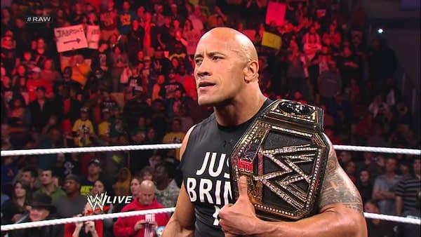 """Dwayne """"The Rock"""" Johnson appears on WWE Raw"""