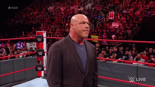 Kurt Angle on RAW, courtesy of WWE.