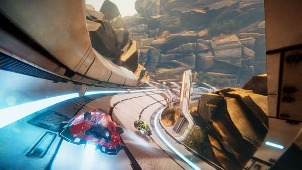 Gorgeous SciFi Racer Antigraviator Does Not Have a Speed Limit