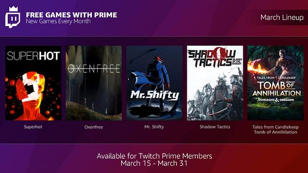 """Twitch Announces New Program in """"Free Games with Prime"""""""