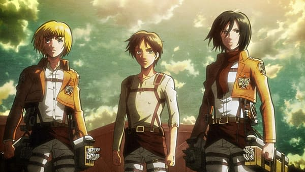 Still from the Attack On Titan anime series