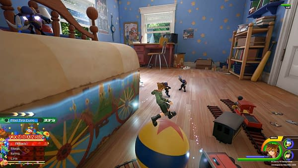 Kingdom Hearts 3's Toy Story Map Includes an FPS Mode