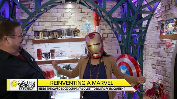 """""""100% Committed to Diversity"""": C.B. Cebulski and Sana Amanat Appear on CBS This Morning to Talk Marvel's Fresh Start"""