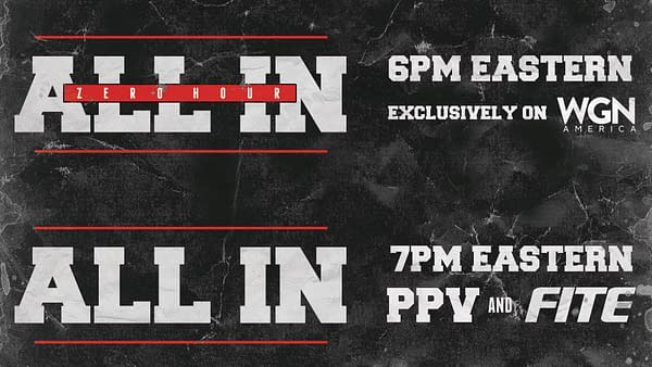 "All In Will Be on PPV, with a ""Zero Hour"" on WGN America"