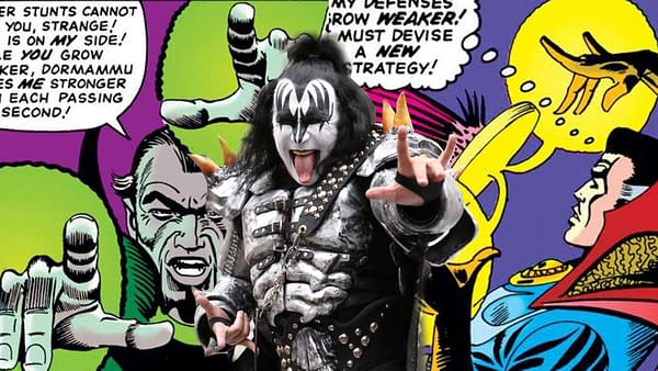 Steve Ditko invented the universal hand gesture for metal/rock used by Gene Simmons.