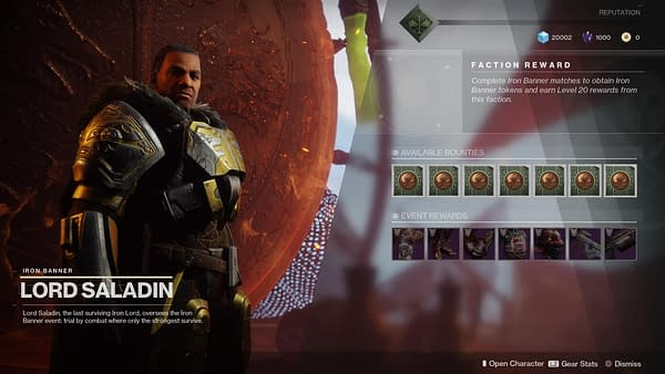 Destiny 2: Forsaken's First Iron Banner Event Starts Next Week