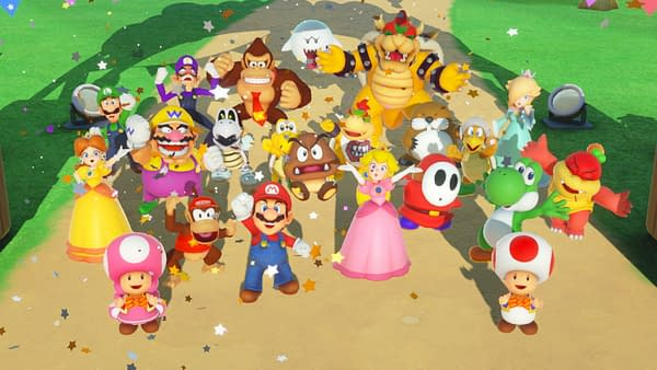 We didn't just throw a party, we threw a super party! Courtesy of Nintendo.