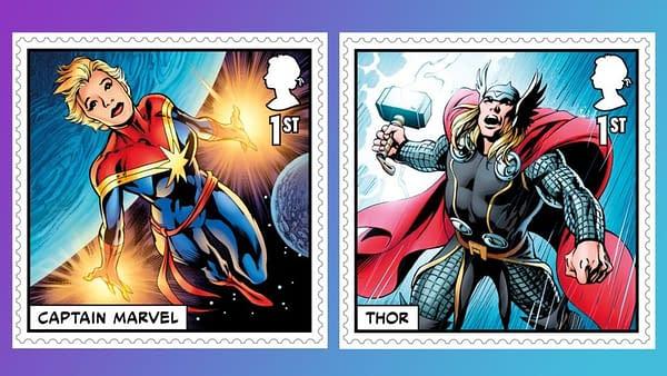 Alan Davis Creates Marvel Comics Stamps for the British Royal Mail
