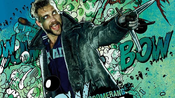 Jai Courtney as Captain Boomerang in The Suicide Squad (2021). Image courtesy of Warner Bros