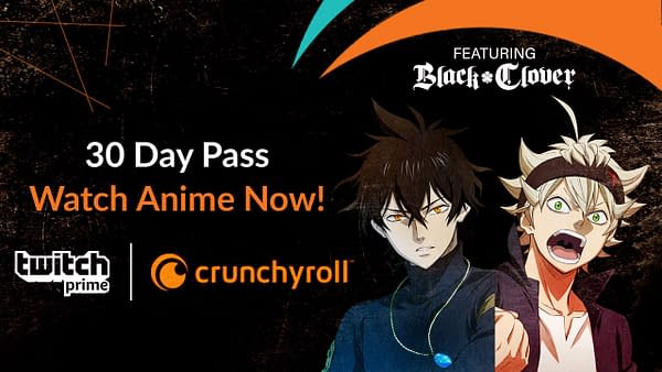 Twitch Prime Teaming Up with Crunchyroll for New Loot