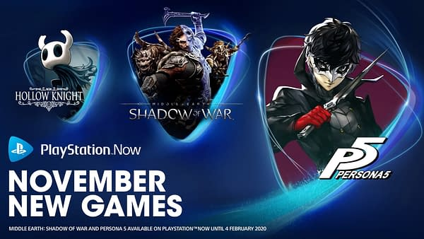 """PlayStation Now Adds """"Persona 5"""" and More For November"""