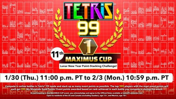 """""""Tetris 99"""" Will Be Throwing A Lunar New Year Maximus Cup"""