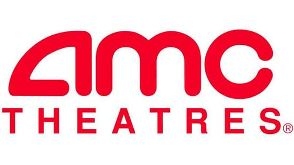The official logo for the theater chain AMC Theaters.