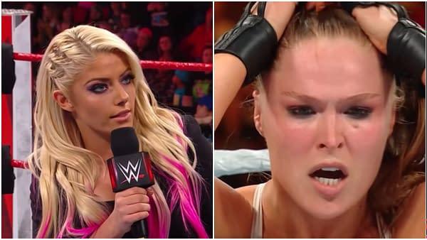 Alexa Bliss Ronda Rousey WWE