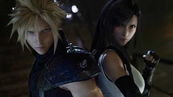 Cloud and Tifa prepare for what's about to come around the corner, courtesy of Square Enix.