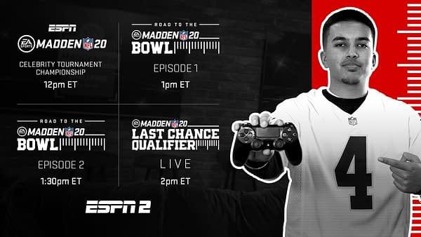ESPN2 Madden Bowl Schedule