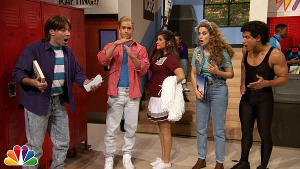 "Jimmy Fallon Went to Bayside High with ""Saved By The Bell"" Cast"
