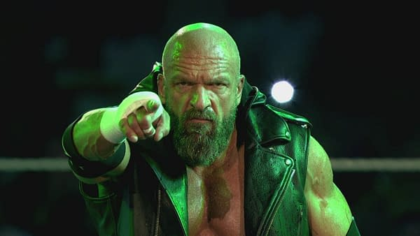 Triple H is looking for someone, courtesy of WWE.