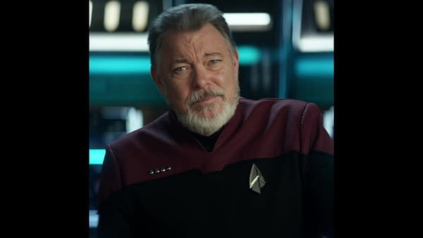 Jonathan Frakes as William Riker in Star Trek, courtesy of CBS Interactive, Inc.