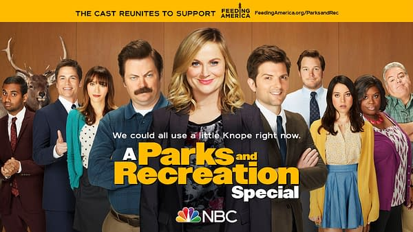 Pawnee's best reunite from home in A Parks and Recreation Special, courtesy of NBC.
