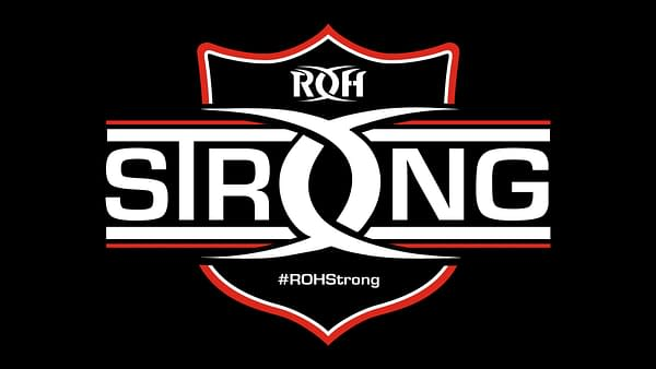 The logo for ROHStrong, which will appear on the t-shirts, courtesy of Ring of Honor