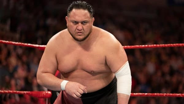 Samoa Joe is going back on the mic for Raw, courtesy of WWE.