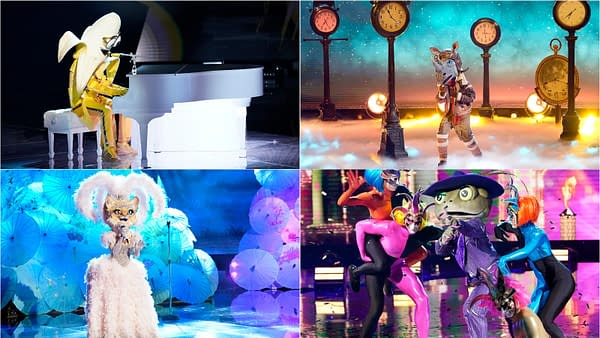 Banana, Frog, Kitty, and Rhino are one step closer to The Masked Singer finale, courtesy of FOX.