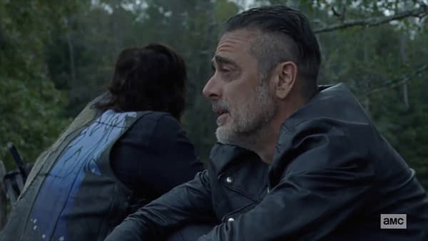 Negan opens up to Daryl on The Walking Dead, courtesy of AMC.