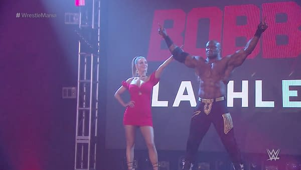 Bobby Lashley and Lana at WrestleMania 36