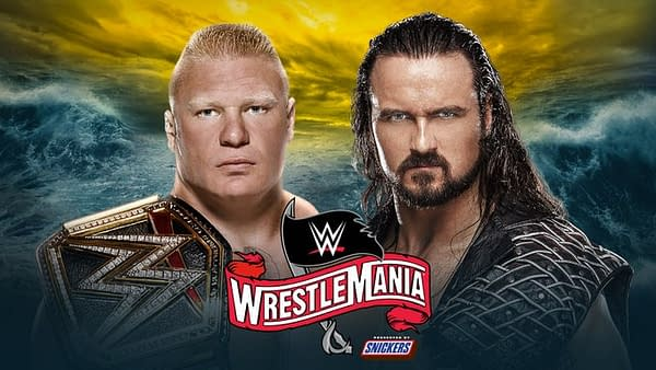Drew McIntyre challenges Brock Lesnar for the title at WrestleMania 36.