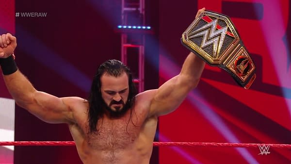 Drew McIntyre retains his title on Raw, courtesy of WWE.