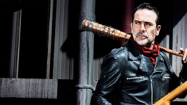 Negan looking Zoom background from The Walking Dead, courtesy of AMC.