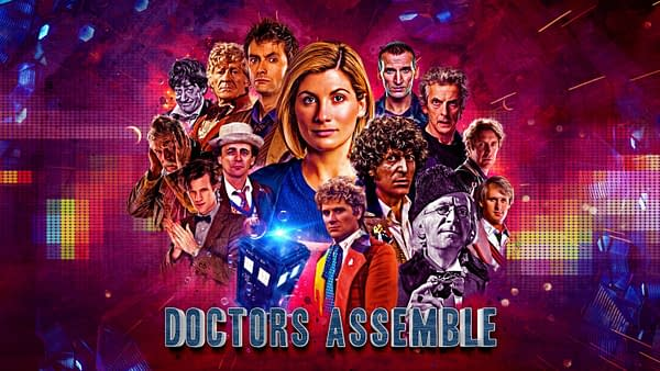 Here's a look at the key art for Doctors Assemble, courtesy of Doctor Who Lockdown and BBC Studios.