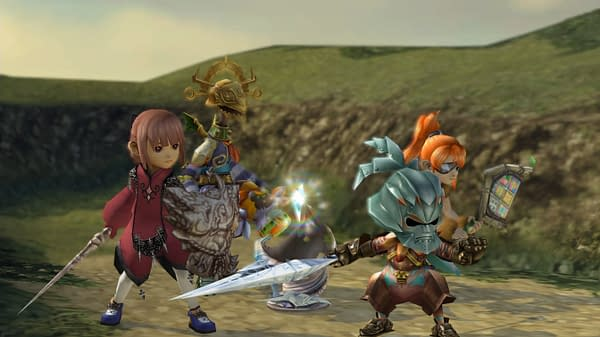 Relive the adventure with your caravan of heroes! Courtesy of Square Enix.