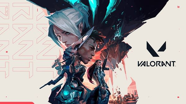 Valorant's launch art created by the Marketing Art Director Thiago Gutierrez and painted by artist Suke, courtesy of Riot Games.