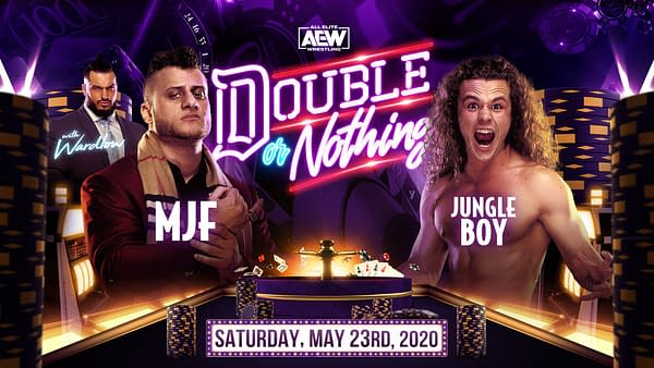 MJF took on Jungle Boy at Double or Nothing, courtesy of AEW.