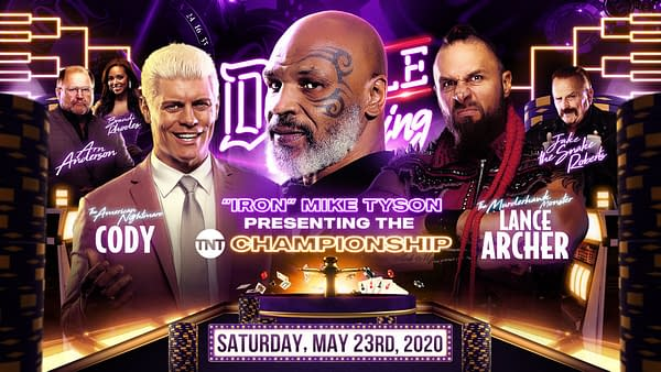 Cody Rhodes vs. Lance Archer for AEW's TNT Championship, courtesy of AEW.