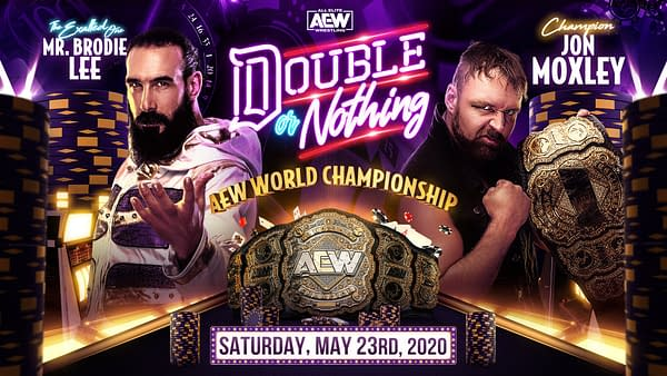 Brodie Lee Challenges Jon Moxley for the AEW World Championship, courtesy of AEW.