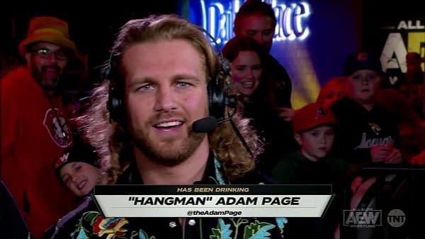 """Hangman"" Adam Page on Dynamite, courtesy of AEW."