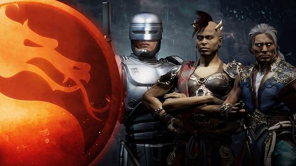 Robocop, Sheeva, and Fujin look to dominate in Mortal Kombat 11, courtesy of NetherRealm Studios.