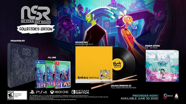 No Straight Roads will be on all three major consoles and PC at the end of June., courtesy of Metronomik.