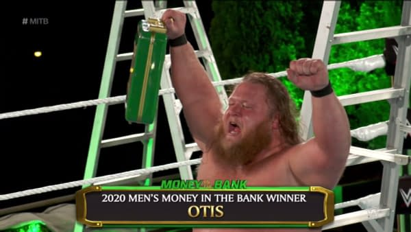 Otis is victorious in the men's Money in the Bank match.