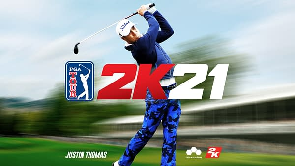 Justin Thomas commands the cover of the latest 2K sports title.