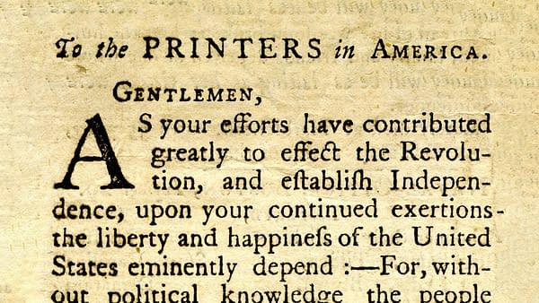 The Massachusetts Gazette, May 1, 1786.