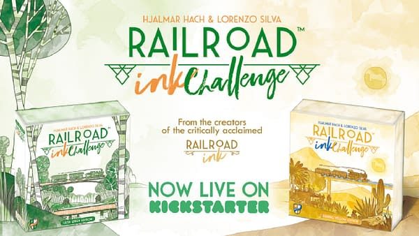 Railroad Ink Challenge is presently still accepting backers on Kickstarter!