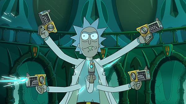 Rick's got everything covered when Rick and Morty returns Sunday, May 3, courtesy of Adult Swim.