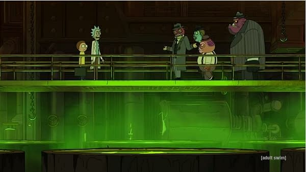 Rick and Morty prepare for the exchange, image courtesy of Adult Swim.
